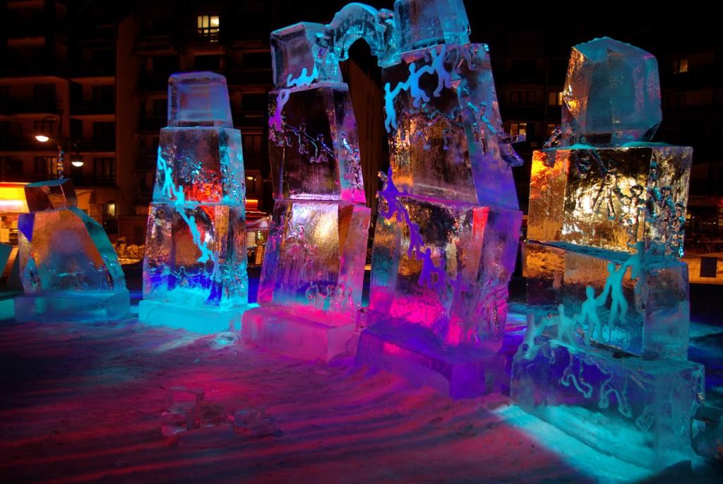 art contemporain en glace
