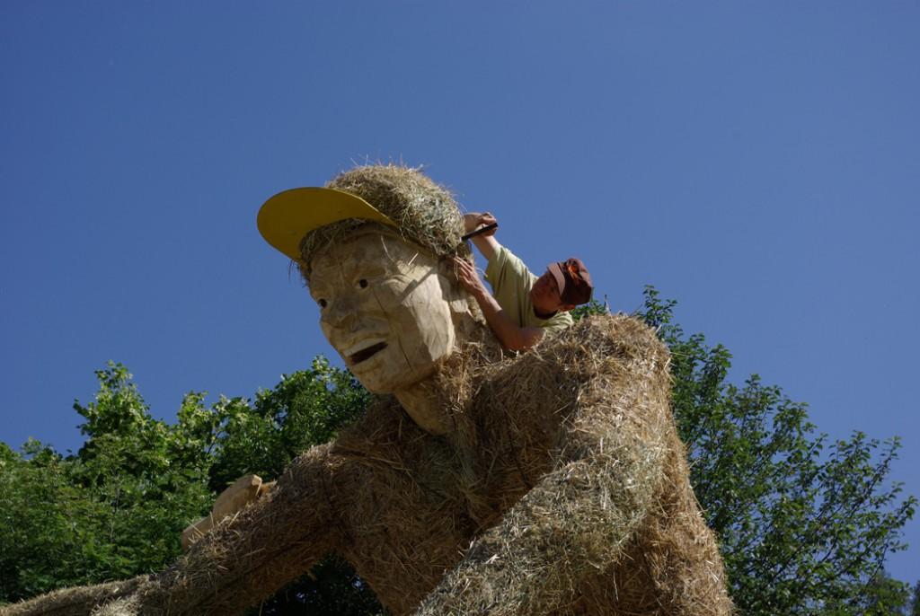 hay sculpture