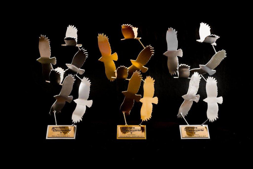 photo du trophée créé par Christian Burger du festival de film Aventure & Découverte 2017 de Val d